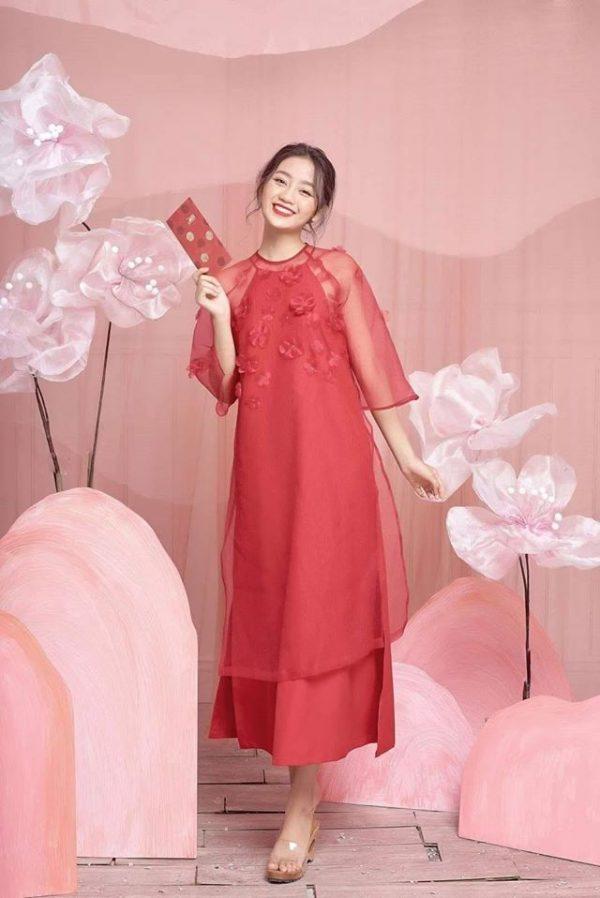 Đầm yếm áo dài chất mango