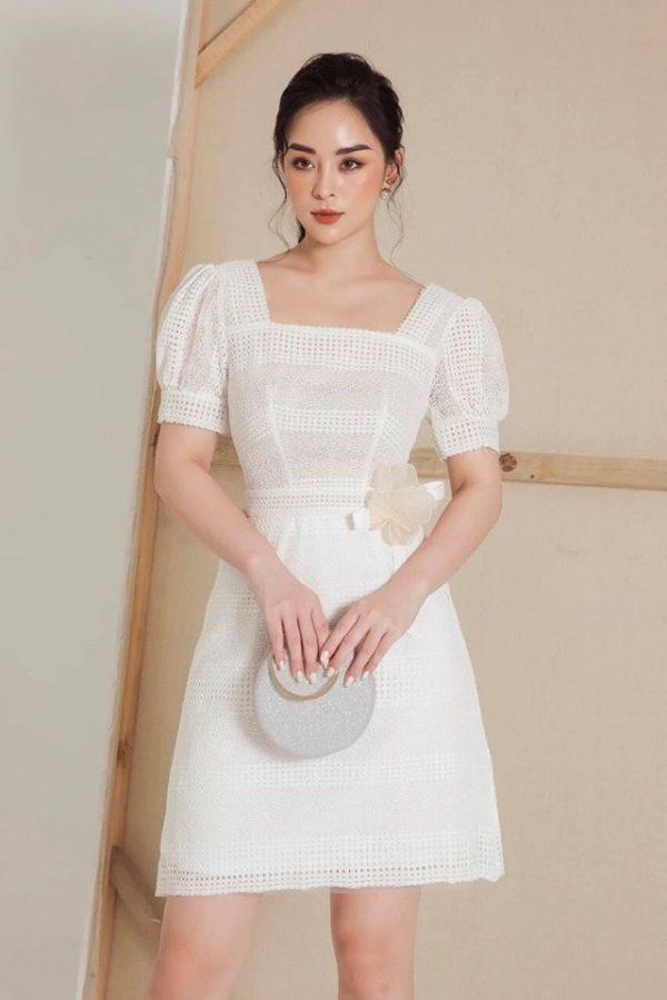 Váy đầm chất ren mềm mại 2