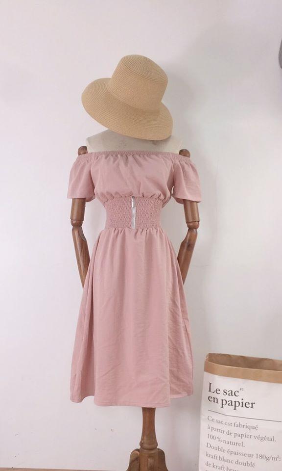 Váy Đầm trễ vai bo eo tôn dáng 4