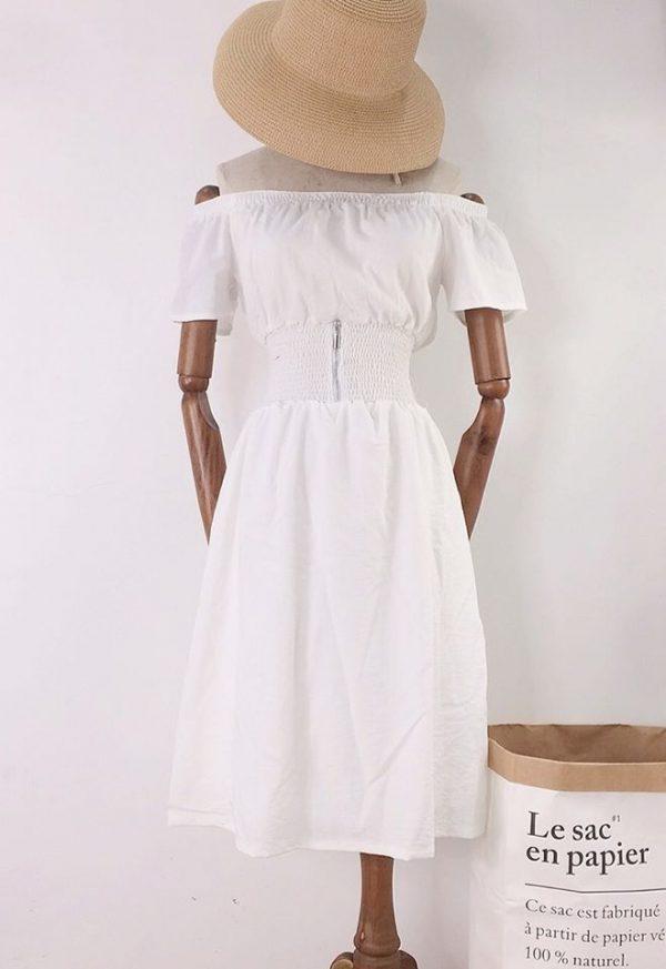 Váy Đầm trễ vai bo eo tôn dáng 3