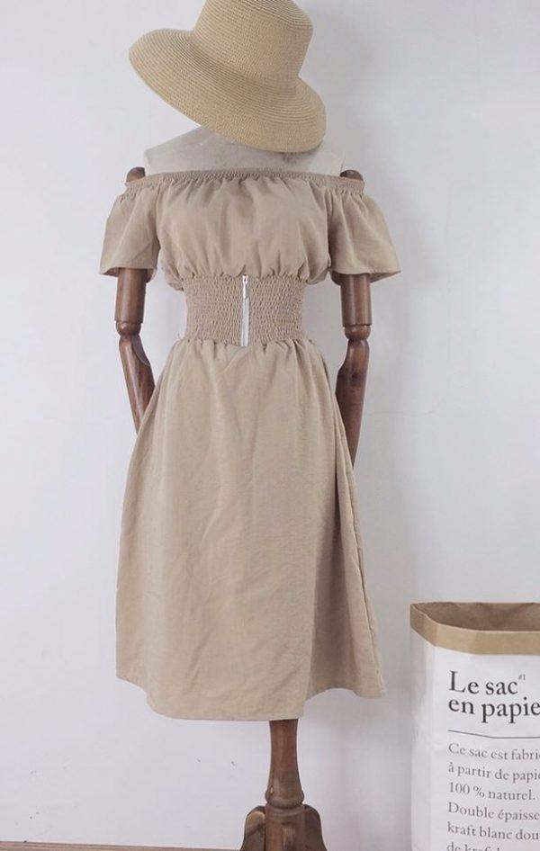 Váy Đầm trễ vai bo eo tôn dáng 2