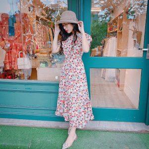 Đầm hoa dài