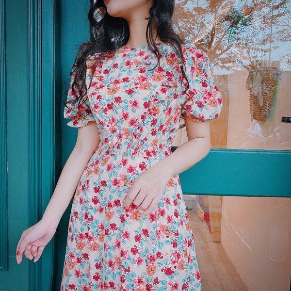 Đầm hoa dài 3