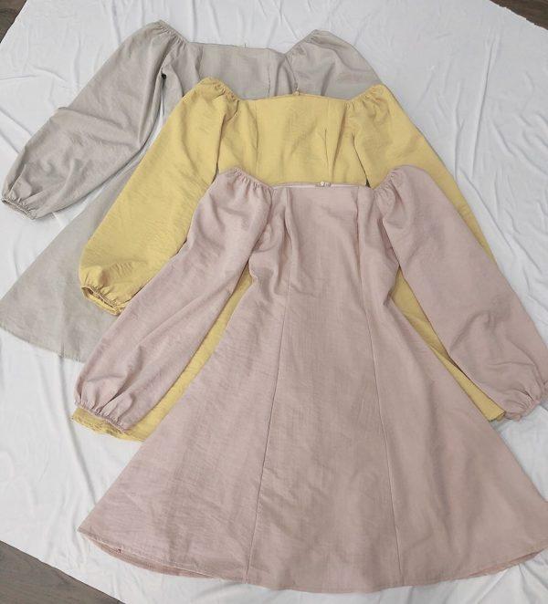 Váy đầm đơn sắc đẹp 2