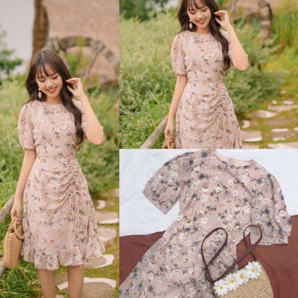 Váy đầm hoa dáng dài 2