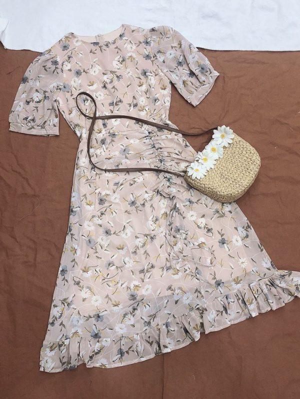 Váy đầm hoa dáng dài 1