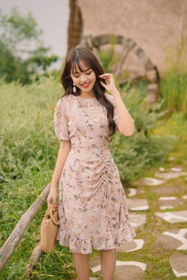 Váy đầm hoa dáng dài