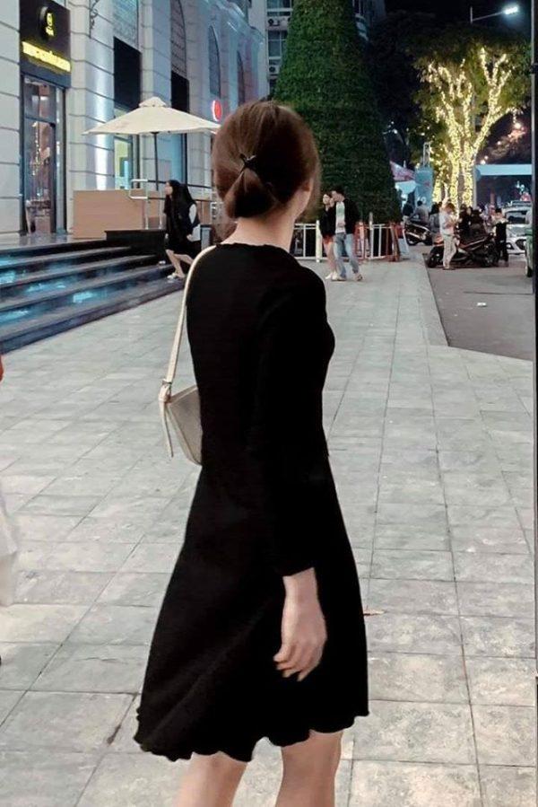 Váy đầm thun đen 2