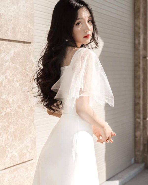 Váy đầm trắng dễ thương 1