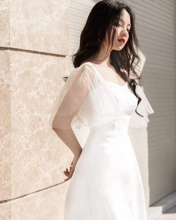 Váy đầm trắng dễ thương 2