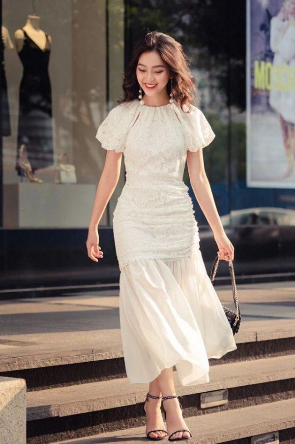 Váy đầm body màu trắng