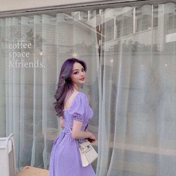 Váy tím hoa cà 3
