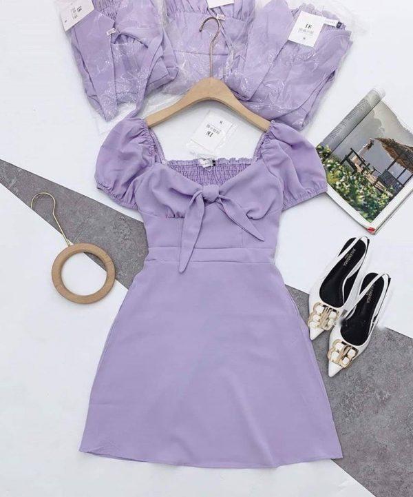 Váy tím hoa cà 2