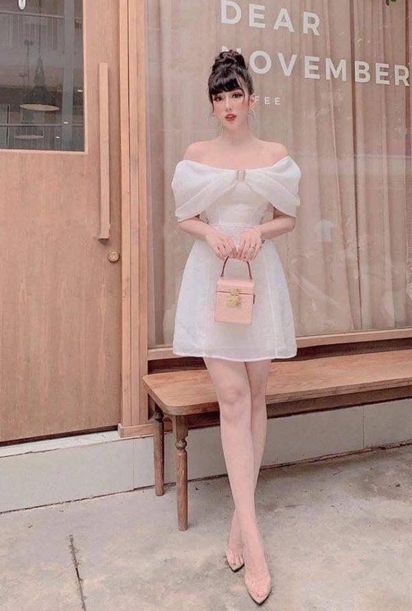 Váy trễ vai đi dự tiệc