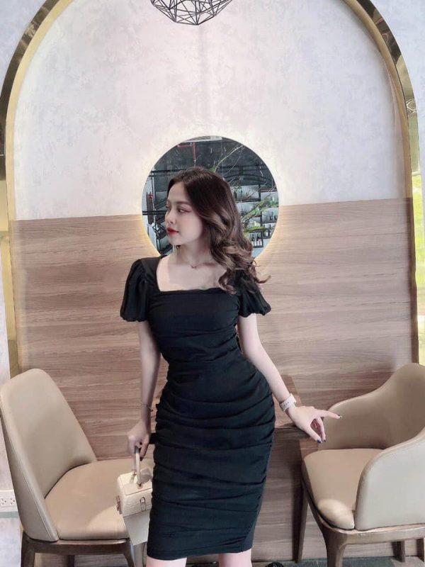 Váy Đầm Body Cổ Vuông Siêu Hot 3