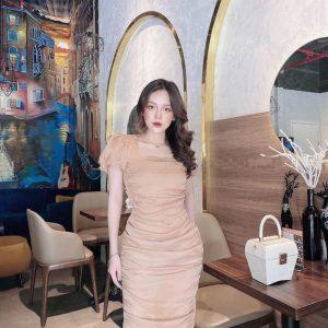 Váy Đầm Body Cổ Vuông Siêu Hot 1