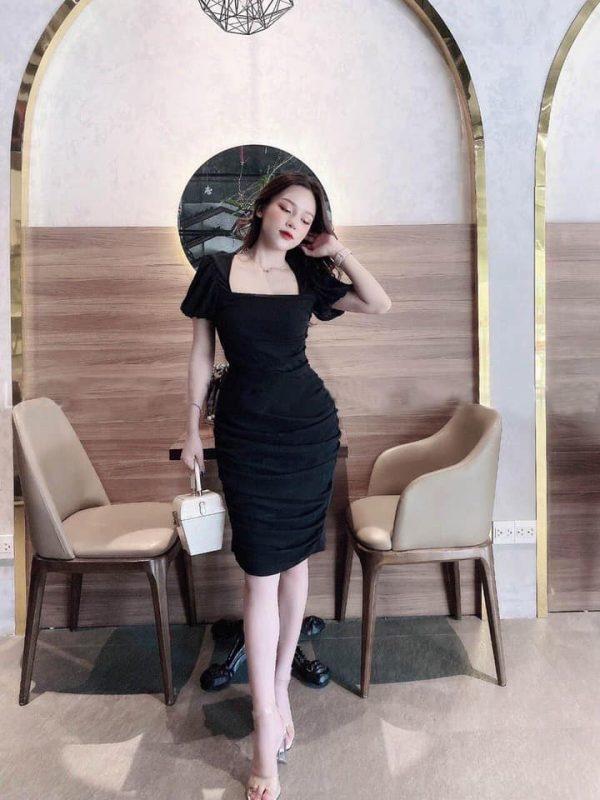 Váy Đầm Body Cổ Vuông Siêu Hot 4