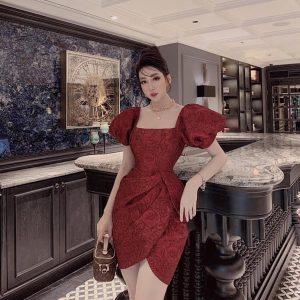Váy Đầm Chất Gấm Siêu Hot 1