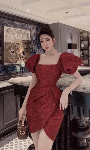 Váy Đầm Chất Gấm Siêu Hot