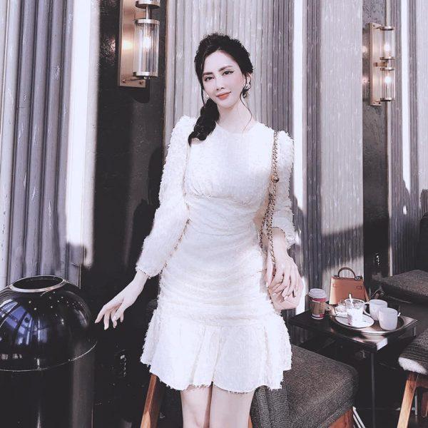Váy Đầm Chất Lông Vũ Siệu Xịn 4