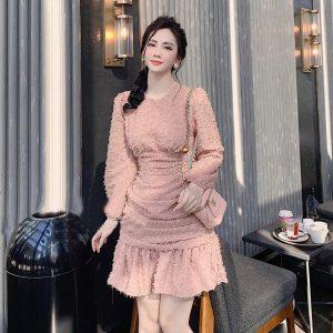 Váy Đầm Chất Lông Vũ Siệu Xịn 1