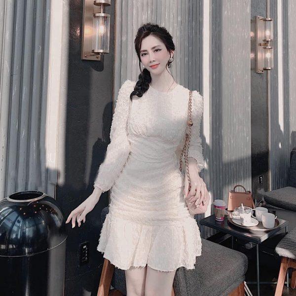 Váy Đầm Chất Lông Vũ Siệu Xịn 2