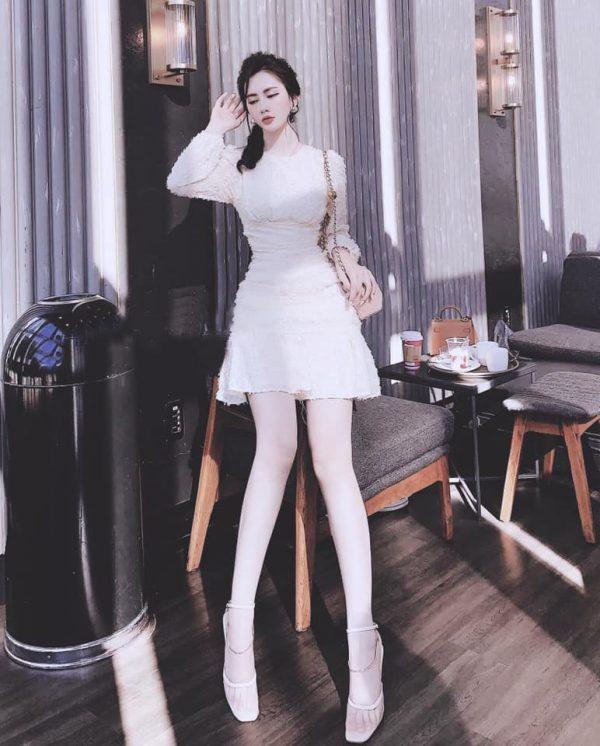 Váy Đầm Chất Lông Vũ Siệu Xịn 3