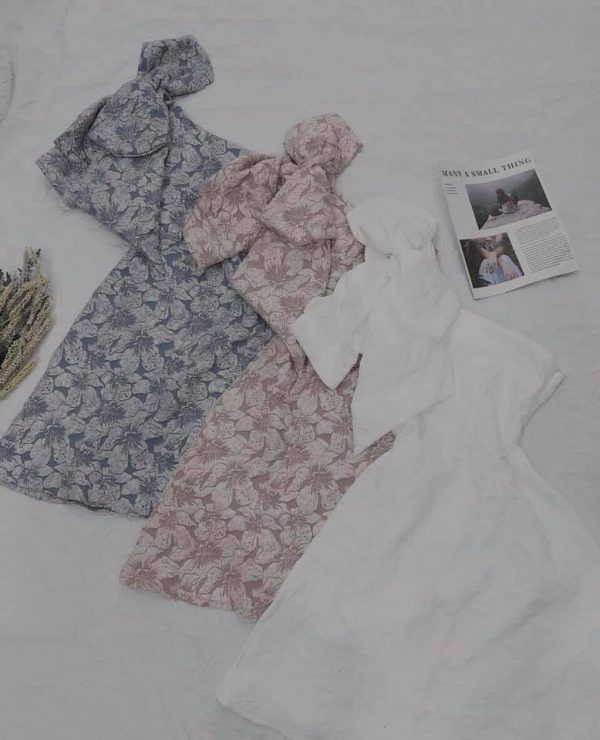 Váy đầm gấm hoa siêu hot 4